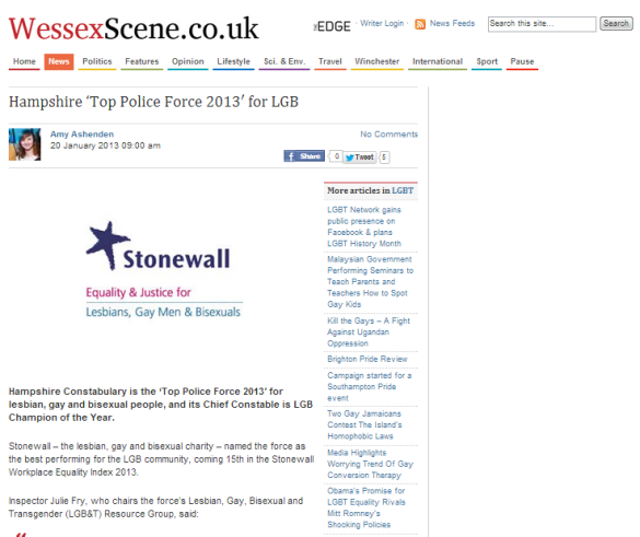 hampshire top police force ws lgbt